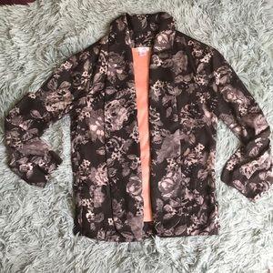 Xhilaration floral casual blazer XS